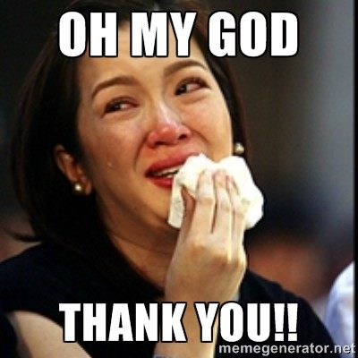 thank you funny crying meme picture