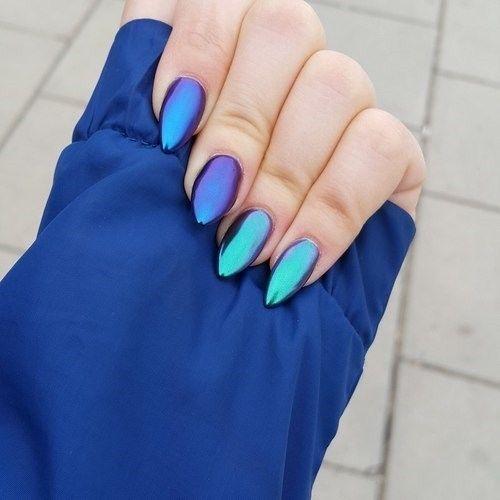 Electric Blue nail design