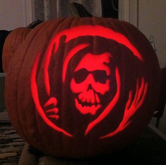 grim reaper pumpkin carving designs for halloween