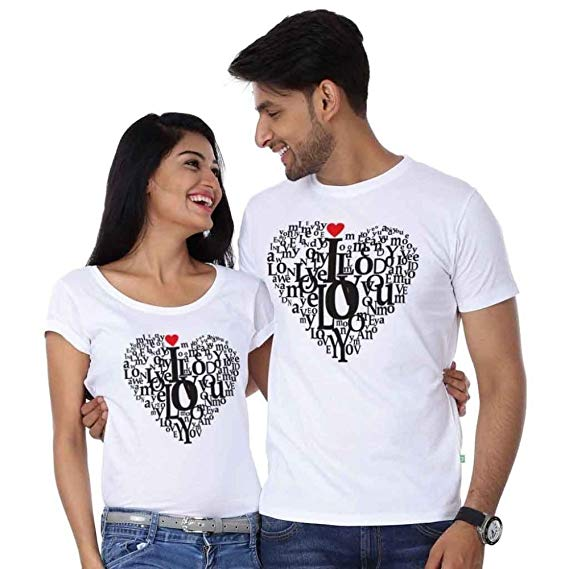 valentine day love t-shirt outfit ideas for boyfriend and girlfriend