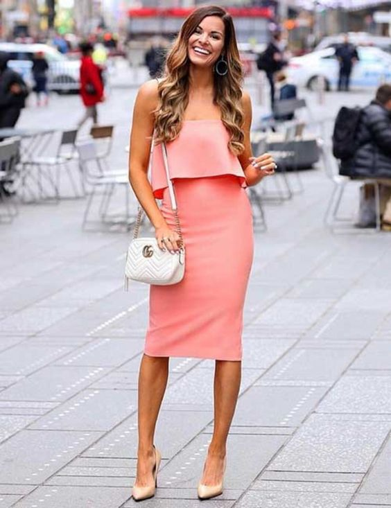 bodycon dress with ruffles ideas for wedding guest