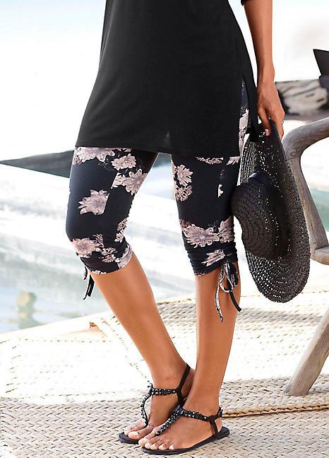 floral print capri leggings