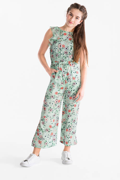 floral print jumpsuit for teen girls