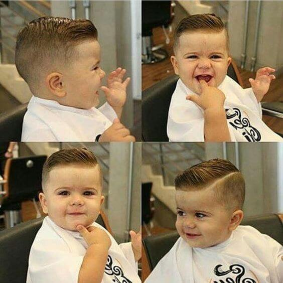 toddler combover fade haircut