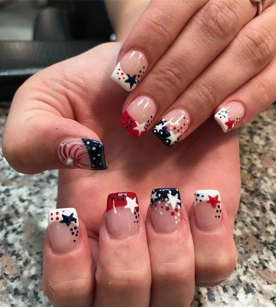 4th of july nail ideas
