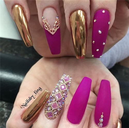 chic summer matte acrylic nails Designs