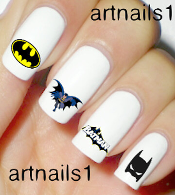 batman superhero nail stickers