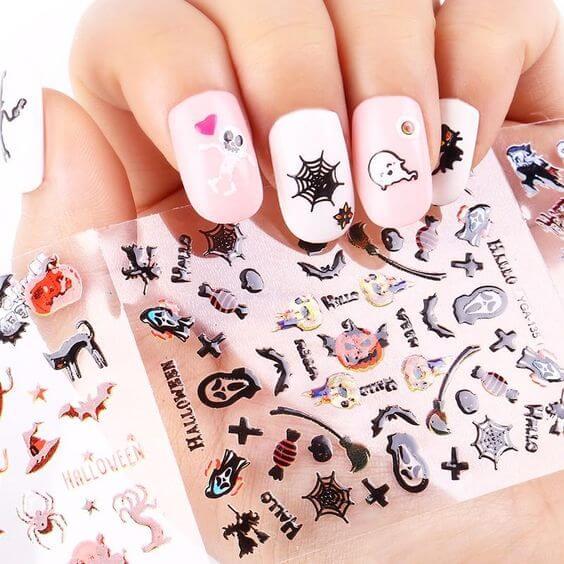 cute halloween nail art stickers