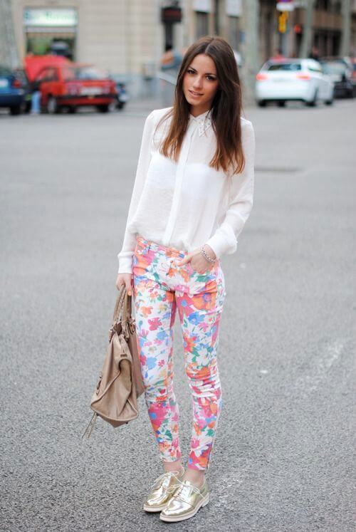 floral pant outfit