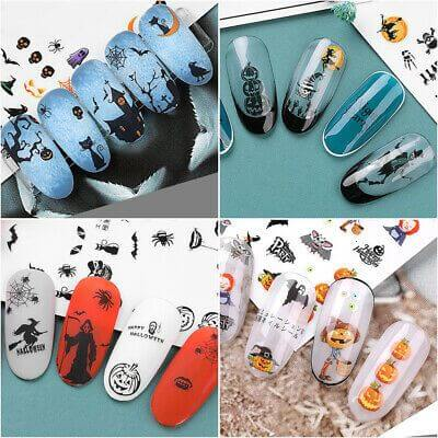 spooky scary halloween nail art stickers