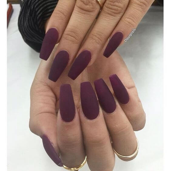 acrylic coffin matte nails