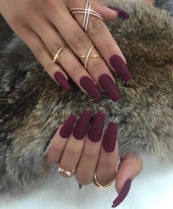 cute coffin nail polish color ideas for winter