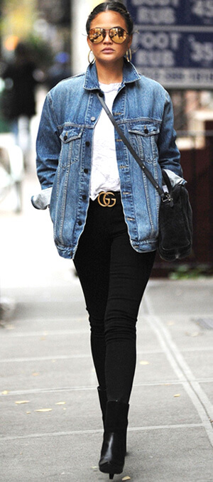 denim jacket outfit ideas for fall