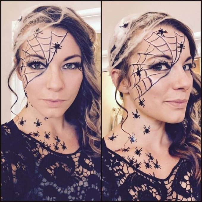 diy halloween spider makeup ideas for women