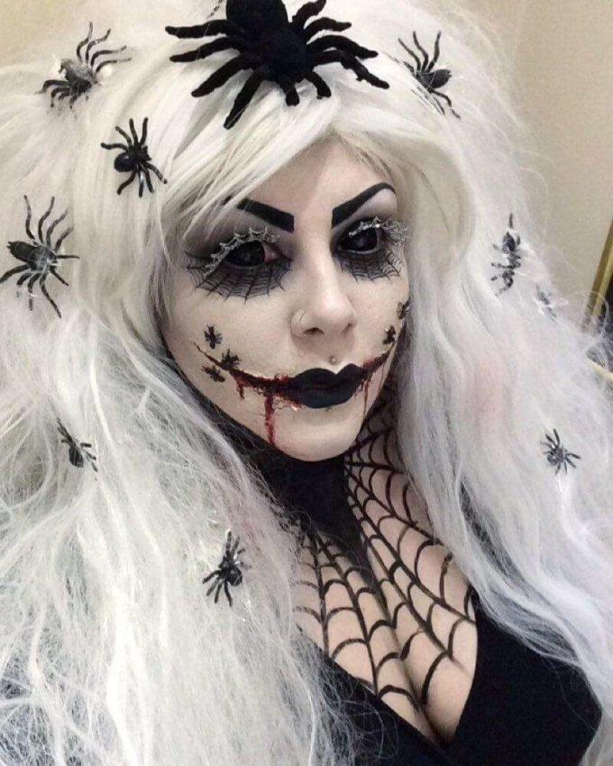 gothic spider witch makeup ideas