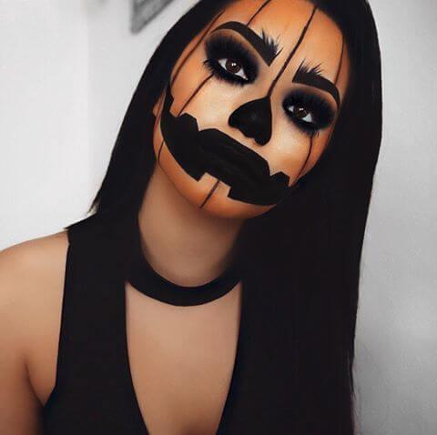 halloween pumpkin makeup ideas