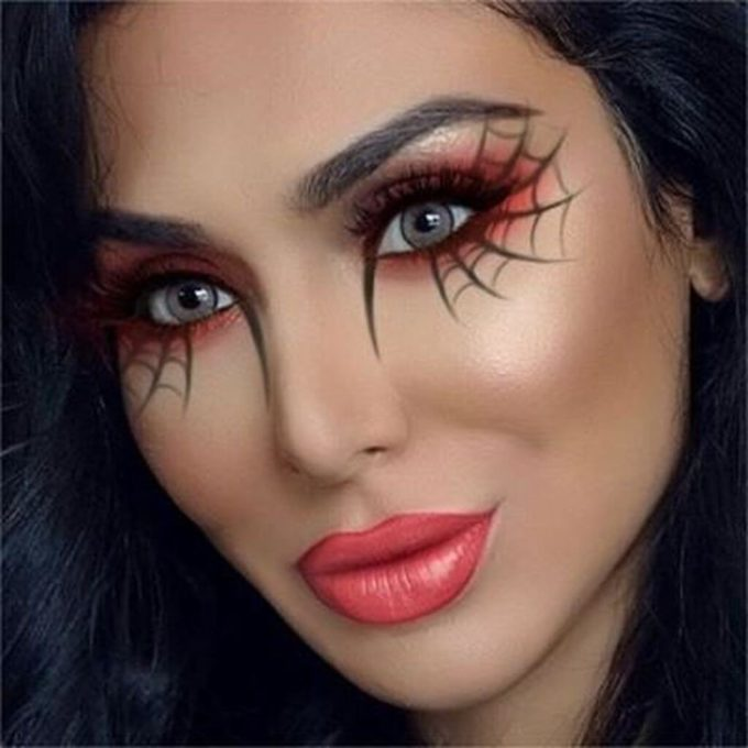halloween spider makeup ideas