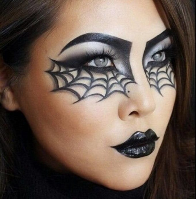 halloween spiderweb makeup ideas for females