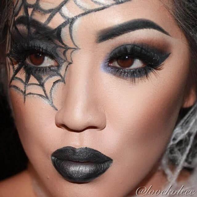 halloween spiderweb makeup