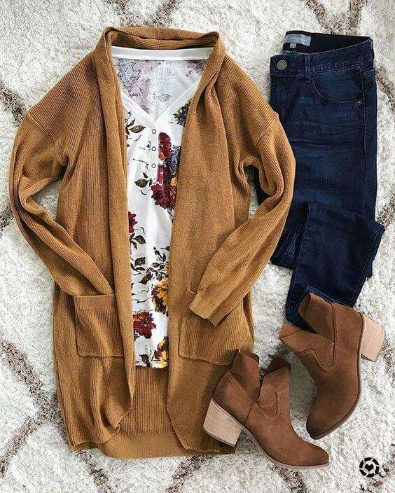 mixed color outfit ideas for fall