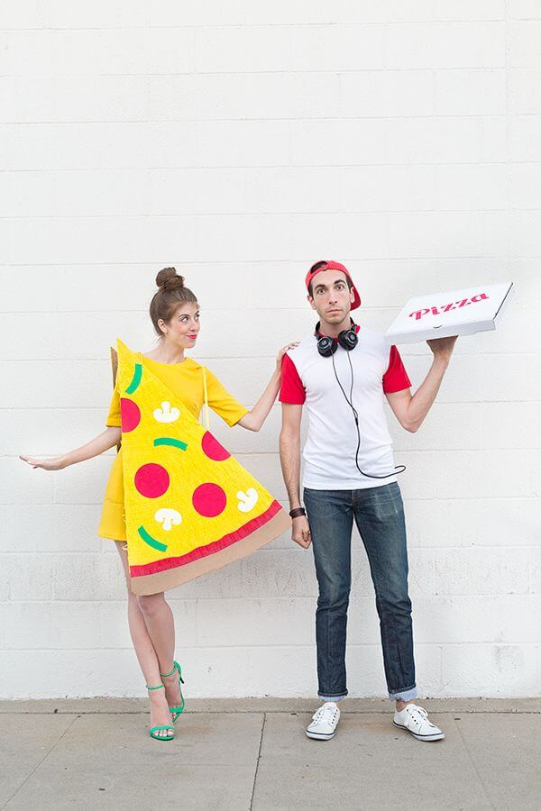 pizza slice and delivery boy halloween costume ideas