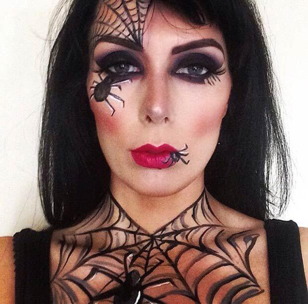 quick diy spider web makeup ideas