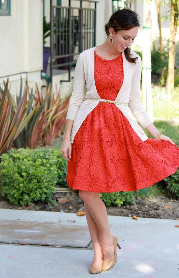 cardigan with frock christmas chruch outfit ideas for women