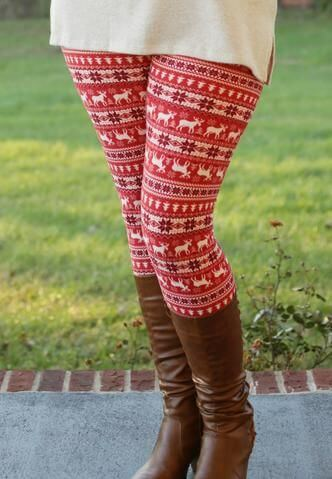 christmas leggings outfit ideas for girls