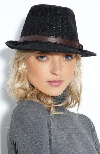 female crochet fedora hat with short hair