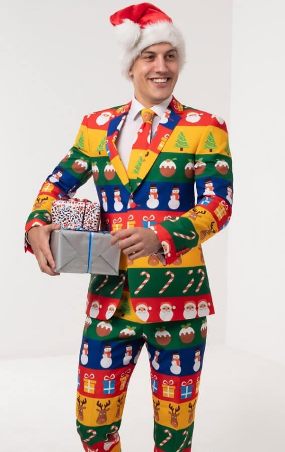 funny christmas suit ideas for men