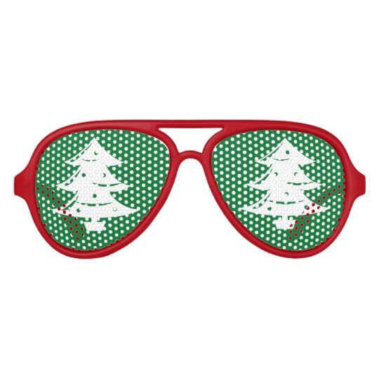 funny xmas tree glasses