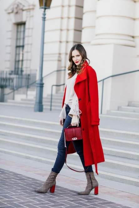red coat christmas outfit ideas for girls