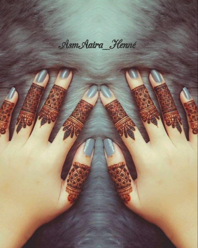 stylish pattern fingers mehndi designs for 2020