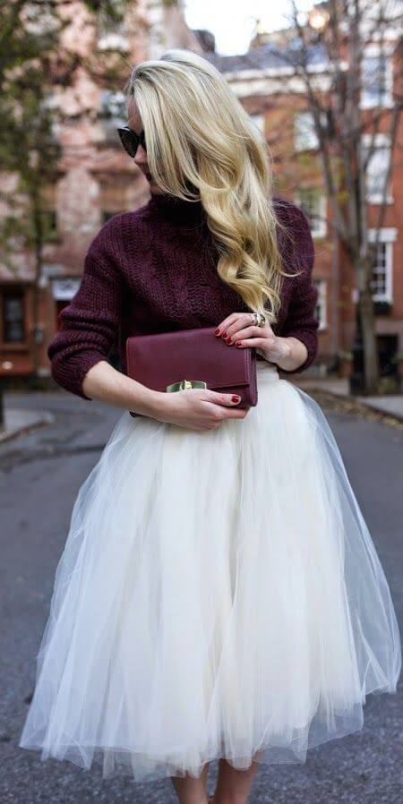 tulle skirt winter outfit ideas for christmas chruch services
