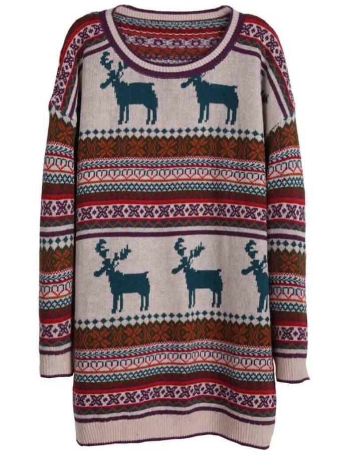 womens fair isle christmas sweater