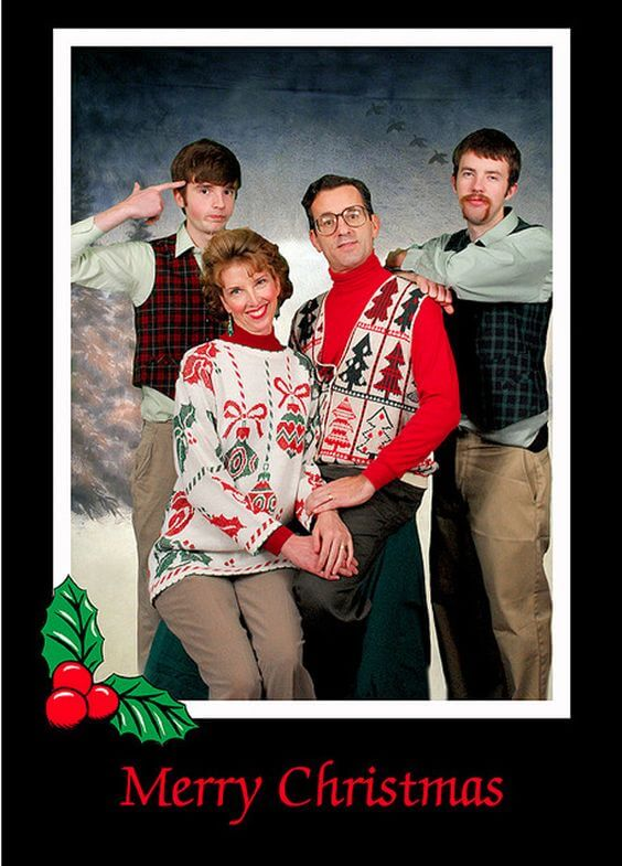 bad family christmas card picture ideas