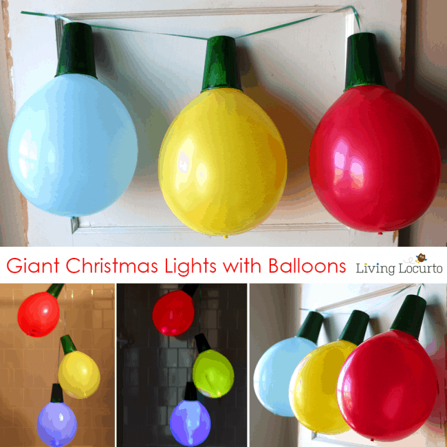 balloon christmas globe lights for decoration