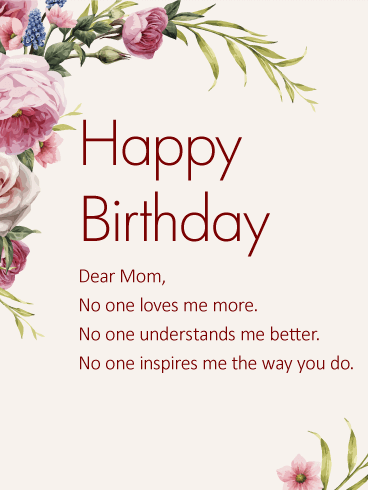best birthday messages for mom