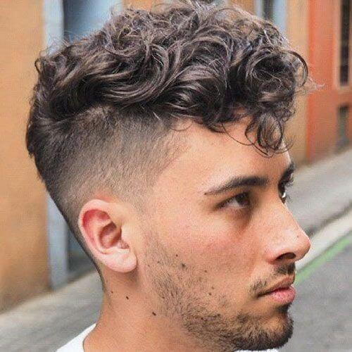 2020 curly undercut hairstyle for young men