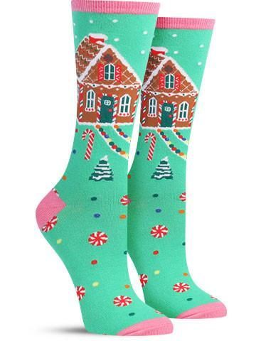 cute ugly sweater christmas socks for girls