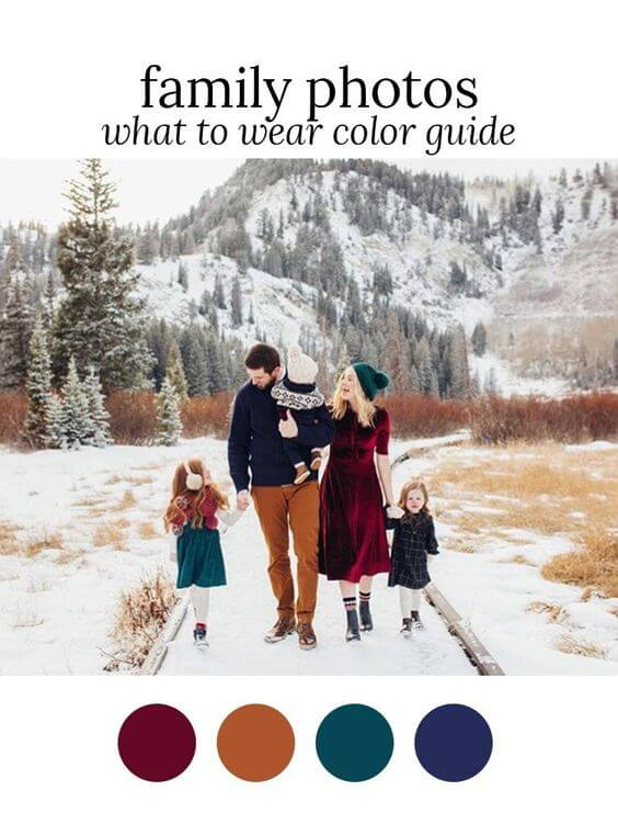 family christmas cold weather photo shoot ideas