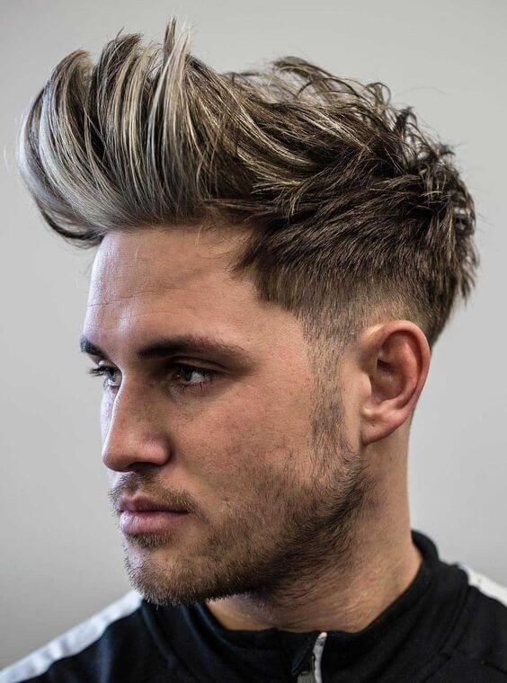 2020 faux hawk haircut for young males
