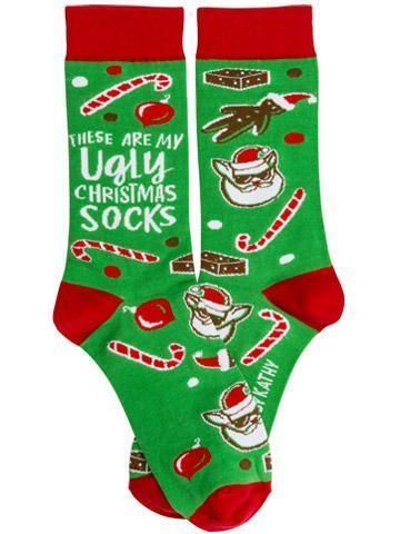 funny ugly christmas sweater stockings