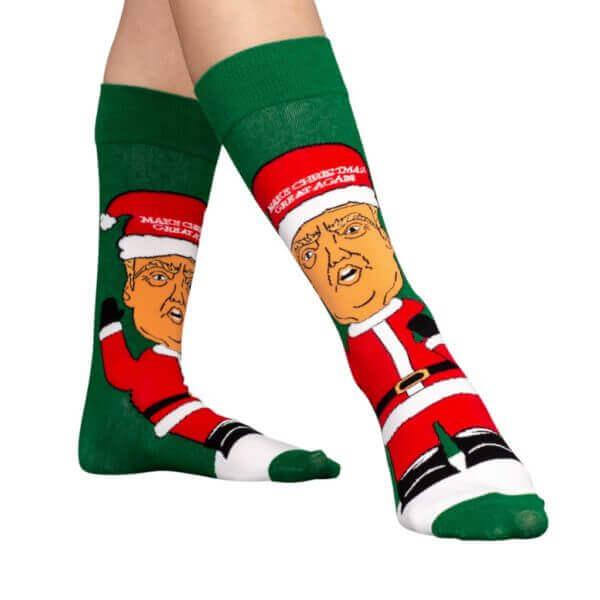 funny ugly donald trump christmas stockings