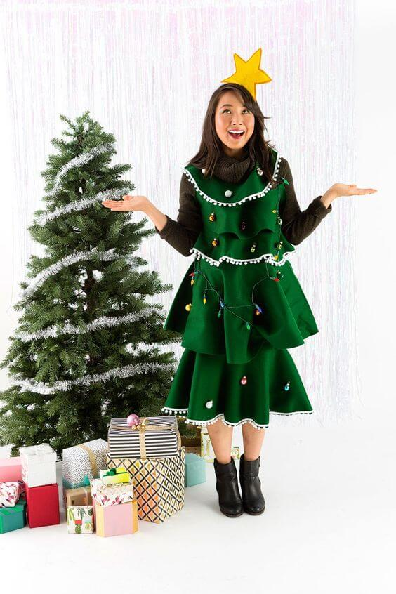 green christmas tree dress ideas for party