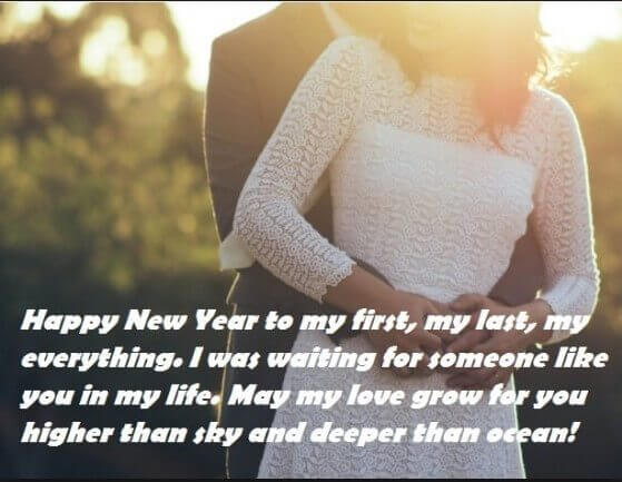 happy new year quotes to my love