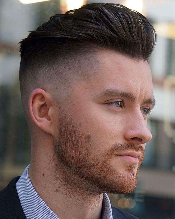 men smooth haircut pulled back 2020