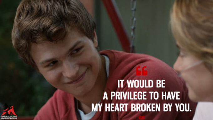 famous love movie fault in our stars - cute romantic love sayings by gus