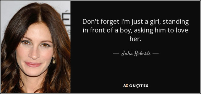 famous love movie notting hill- cute romantic love sayings by julia roberts