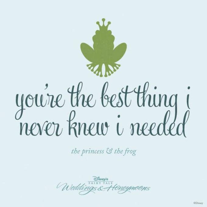 famous Walt Disney love movie The Princess & The Frog cute romantic love quote